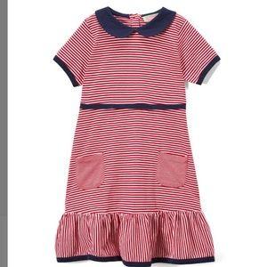 Red Stripe Petter Pan Collar A-line dress Girls